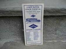 1929 Gray Line Bus Union Motor Coach Terminal Time Tables.Boston to Ny