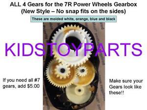 4X GEARS Fisher Price Power Wheels Gearbox: GEAR 4, GEAR 3, GEAR 2 & GEAR 1