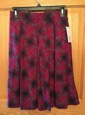 LuLaRoe Madison Skirt Red w/ Black Turquoise Design NWT! Sz M CUTE!!