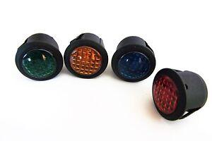 4x LED Dash Warning Indicator Lights Round 12v LED - Brake / headlight sidelight