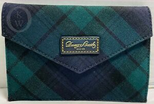 Dooney & Bourke Leather*Highland Tartan Plaid*Blue/Green  21170E S167E