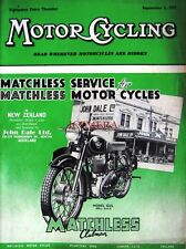 Sep 2 1954 Matchless 'G3/L Clubman' Motor Cycle ADVERT - Magazine Cover Print