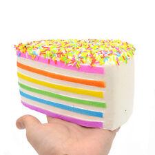 Jumbo Squishy 14CM Rainbow Shortcake Sprinkle Slow Rising Soft Press Hand Pillow