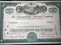 #20  The Pennsylvania Railroad Company Stock Certificate
