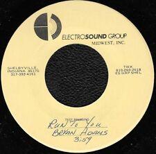 "BRYAN ADAMS ""Run To You"" RARE TEST PRESSING 1982 7"" vinyl single"