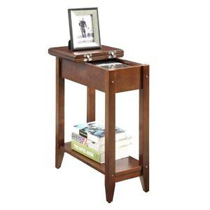 Convenience Concepts American Heritage Flip Top End Table, Espresso - 7105059ES