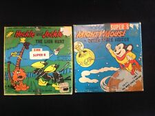 2 Vintage 8mm FILM ~ Mighty Mouse Outer space  / Heckle & Jeckle Loin Hunt