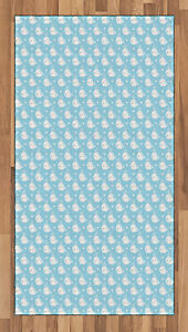 Ocean Whale Area Rug Flat Woven Accent Rug Home Decoration 2 Sizes