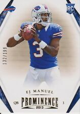 2013 Panini Prominence Gold #131 EJ Manuel RC /199