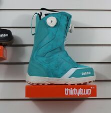 New 2018 32 Thirty Two Womens Lashed Double Boa Snowboard Boots 8 Turquoise