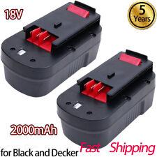 2X 2.0Ah HPB18 for Black & Decker 18V Battery HPB18-OPE FSB18 A1718 A18 NI-CD