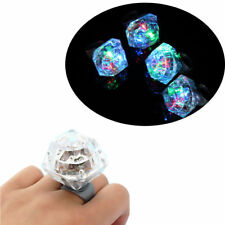 Color Flashing LED Light Up Diamond Finger Ring Clubbing Party Wear Glow Kid Toy