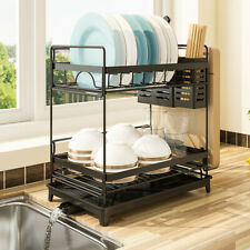 New Stainless Steel Kitchen Shelf Dish Drying Rack Storage Rack Tableware Stand