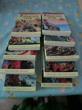 10 x Books by Enid Blyton - The Famous Five Mysteries Books 1 - 10 (paperbacks)