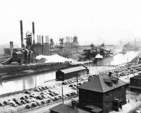 8x10 1947 Corrigan Mckinney Steel Mill PHOTO Factory Furnaces Cleveland Ohio US