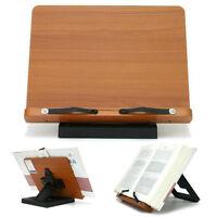 [Lilac] Book Stand Bible Wooden Reading Holder Cookbook Desk Bookstand Wiztem
