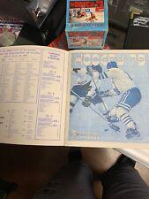 1979 Panini Hockey Sticker Box And Empty Mint Album.