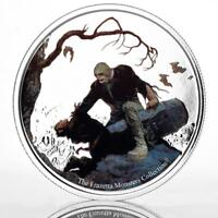 2017 1 oz Frazetta Monsters - Beyond the Grave .999 Silver Color Coin #A460