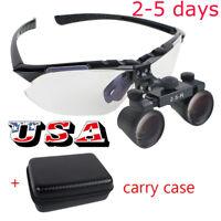 USA Dental Loupes 2.5X R (360~580mm) Surgical Medical Binocular Convenient Case