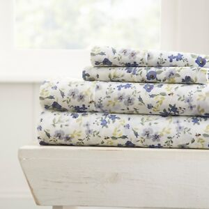 Home Collection  Premium 4 Piece Printed Bed Sheet Set - 11 Beautiful Designs