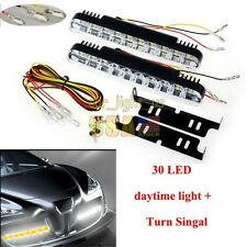 12V 30LED Car Daytime Running Light DRL Daylight Lamp with Turn Signal US Ship