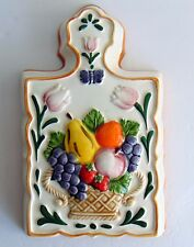 Ceramic Fruit Decorative Jello Mold Wall Decor Hanging Fruit Berries Butterfly