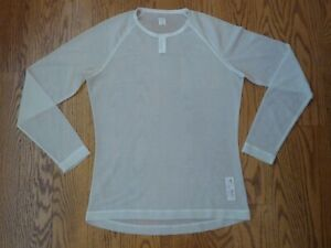 Rapha Merino Mesh Base Layer Cream Long Sleeve Large L