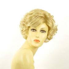short wig women curly golden blond wick very light blond ref: MATHILDE 24BT613