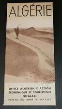 ANCIEN DEPLIANT TOURISTIQUE ALGERIE OFALAC CARTE 1951 VOYAGE TOURISME AFRIQUE