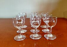 Baccarat France Montaigne crystal cordial glasses--set of 9