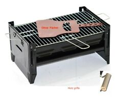 Grill Gartengrill Standgrill schwarz Tischgrill Camping Grill Holzkohlegrill OVP