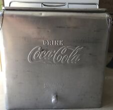 Vintage Acton Mfg. COCA COLA COKE Ice Cooler/Chest w/ Bottle Opener & Drain