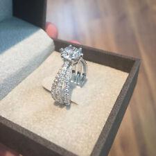 1.00 Carat Real Diamond Engagement Ring 14K Solid White Gold VS1 Size K L M N P