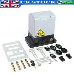 Electric Sliding Gate Opener Automatic Motor Track Driveway Security Kit 2000KG