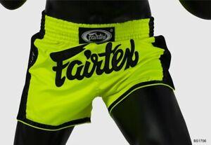 Fairtex Muay Thai Shorts New Slim Cut BS1706 Size S Neon Green