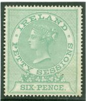 1880 Ireland petty sessions 6d value. Fine mounted mint