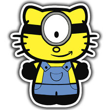 Hello Kitty Minion pegatina 100 X 120 Mm Jdm Euro