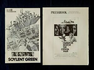 OMEGA MAN  / SOYLENT GREEN original pressbooks 1970s Charlton Heston