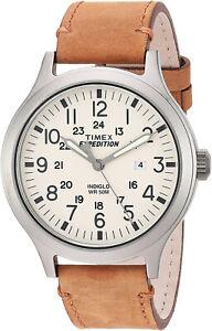 Timex Men's Mossy Oak Expedition Scout 43 Quartz Tan Leather Watch TW4B06500
