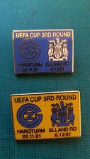 FC Zurich v Leeds United - 2000/01 Badge - UEFA Cup - Both Fixtures1