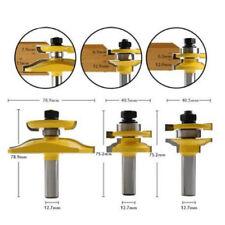 "3pcs Carbide Router Shank Bit Door Cemented 1/2"" Ogee Woodworking Tool kit"