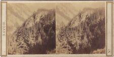 Garganta de Sobrepuestas Saboya ESTÉREO Stereoview Vintage Albúmina ca 1860