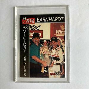 Vintage Wheels 1993 Dale Earnhardt Mom 'n' Pops Charlotte Victory Card #4