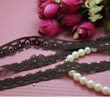 """20 Yards 9/16"""" Elastic Stretch Dark Brown Lace Trim~Dress/Craft/Sewing/Wedding"""