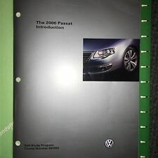 VW Manual 891503 Volkswagen 2006 PASSAT Introduction- Service Training Manual