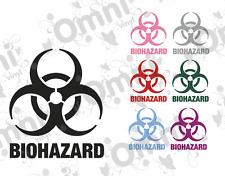 """2x Adesivo decalcomania in vinile rischio biologico, Laptop, Auto, Muro, Finestra 14.9cm (5.8"""") Alta"""