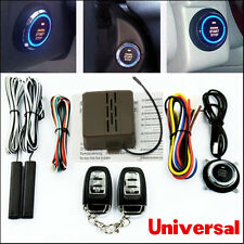 Car Alarm System Passive Keyless Entry Engine Ignition Start Push Button Remote