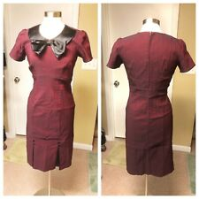 NWOT Stop Staring 1940s Style Burgundy Black Bombshell Wiggle Dress Size XL