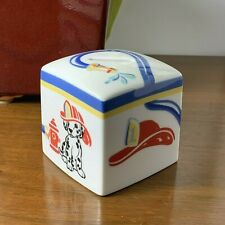 New ListingTiffany & Co Fire Station Dalmatian Porcelain Coin Bank 2005