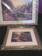 Thomas Kinkade Cobblestone Christmas Cobblestone Lane VI Framed LE Print +++